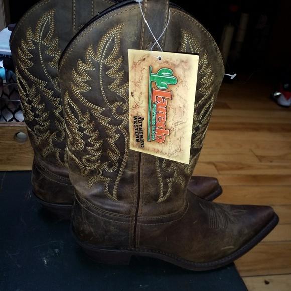 2974f092dd6 Laredo brown short Cowboy boots NWT
